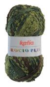Ruffles Scarf Knitting Yarn Rocio Plus by Katia 100g Nr. 601 grün/braun