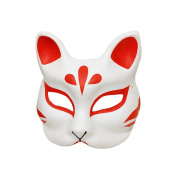 Visork Face Mask Masquerade Masks Handmade Fox Mask Traditional Mask Cosplay Accessories Tools For Birthday Party Favours