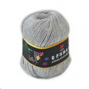 Celine lin One Skein Soft & Warm Angola Rabbit Wool Knitting Yarn 50g,Light grey