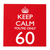 Neviti 671628 Keep Calm - Napkins - you're only 60