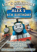 10 x Personalised Thomas The Train Party Invitations or Thank you cards