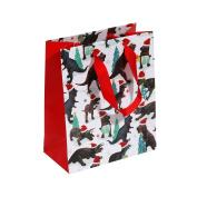 Dino medium Christmas gift bag