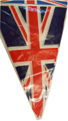 Union Jack Bunting - Set of 6 UK British Flags - Perfect for a Themed Party / Birthday / Anniversary / Wedding /Fancy Dress / Festival / Red White and Blue / Great Britain Decorations / GB Banners