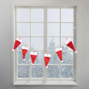 Merry Christmas Hanging Banner Xmas Sock Hat Clothing Party Flag Decor Bunting Garland Banner for Christmas Decoration