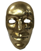 Hollywood Undead - Danny Boy Gold Style Hard Plastic Mask - Universal Size With Elasticated Strap