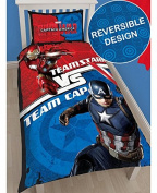 NEW OFFICIAL MARVEL AVENGERS Single Duvet Cover Bedding Set Hulk Thor Captain America UK