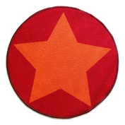 Colorama Play Mat, Stars Red Orange, 67 cm diameter