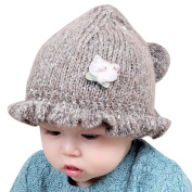 Ouneed Gilrs Boys Kniting Hat Baby Novelty Ruffles Winter Beanie