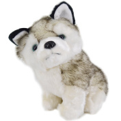 LA HAUTE Soft Toys Cute Husky Plush Toys Stuffed Puppy Toy Christmas Gift for Kids,20CM