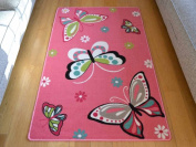 Kids Non Slip Machine Washable Butterfly Play Mat. Available in 3 Sizes