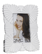 White Flower Shiny Photo Frame 4 X 6