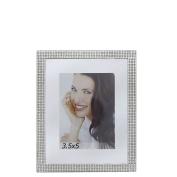 Small Silver Glitz And Mirror Photo Frame