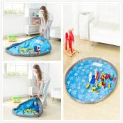 Storage Toy Storage Bag,Child Waterproof Foldable Rug Play Mat Toy Storage Bag Drawstring Organiser Kids Play Mat