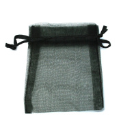 10 Staples Bags 7 x 9 cm Organza Gift Wrapping Details Black