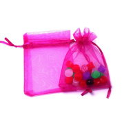 10 Staples Organza Bag Gift Wrap Pink 7 x 9 cm