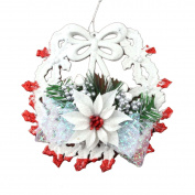 OUMOSI Decorative Christmas Wreath Christmas Floral Wreath for Christmas Tree Party Home Garden