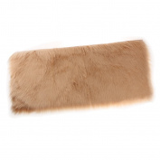 MagiDeal Artificial Sheepskin Rug Furry Home Car Seat Cushion Fluffy Float Window Mat - Brown, 45x135x6cm