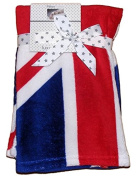 Baby Boys Girls Red White Blue Union Jack Flag Blanket Wrap 75cm x 75cm approx