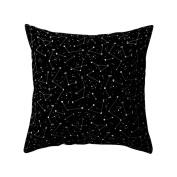 dragonaur Black and White Geometric Partern Square Throw Pillow Case Waist Cushion Cover size Medium