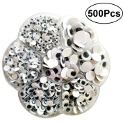 TOYMYTOY Wiggle Googly Eyes Self-adhesive DIY Scrapbooking Crafts Toy Accessories Assorted Sizes 500pcs