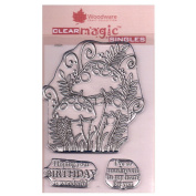 Woodware A6 Clear Cling Stamps - JGS554 Three Toadstools