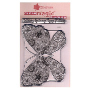 Woodware A6 Clear Cling Stamps - JGS557 Decorative Butterfly