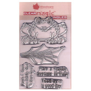 Woodware A6 Clear Cling Stamps - JGS560 Toadally Fantastic