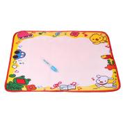 Water Drawing Mat,HARRYSTORE Aqua Water Drawing Painting Writing Mat Board Magic Pen Doodle Kids Toy Gift 48*36CM