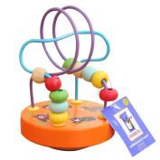 CDELEC Mini Child Tumbler Toy Puzzle Around the Bead Trumpet Beaded Wooden Beaded Children Intellectual Development