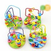 Tione-Ve 1X Boneby Kids Wooden Around Beoneds Moneze Intellect Educonetiononel Toy Christmones Gift