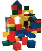 50 Piece Construction Wooden Building Blocks Bricks Kids Wood Toys