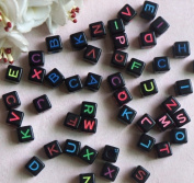jileSM Children DIY Loose Beads 26 Letters Square Beads