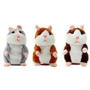treasure-house Talking Hamster, Pet Talking Hamster Repeats What You Say, Pet Talking Plush Toy Buddy Mouse ,Halloween Christmas Xmas Gift for Kids Children,Batteries Not Included