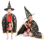 XGMSD Halloween Children Cosplay Costumes Hats Princess Skirts Party Cloak Masquerade Costumes Men And Women Christmas Halloween Costumes,Black