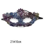 XGMSD Fashion Props Party Lace Halloween Fun Flirt Show Stage Sexy Mask Mask,L