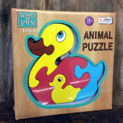 Duck Animal Puzzle Deluxe Wood Traditional Toy Age 3+
