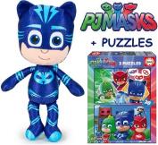 PJ MASKS Plush Cat Boy + Puzzle PJ MASKS