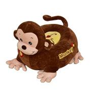 Children's Plush Brown Monkey Riding Chair - .