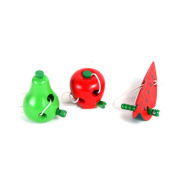 Mumustar 3pcs Worm Eat Apple Wooden Puzzle Toy Kids Educational Early Learning Teaching Aid For Children Over .