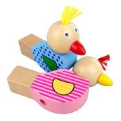 Cido Birds Whistle Wooden Handcraft Toys Colour Painting Kids Children Fun Amusement Cartoon Cute Animals Gifts Creative