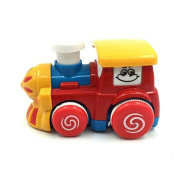 Push and Go Car Train Toys Friction Powered Mini Locomotive with Smokestacks Toys for Baby Toddlers