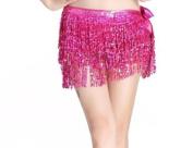 Dance Belly Dance Dancer Costume Sequin Tassel Fringe Hip Scarf Belt Waist Wrap Skirt