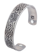 Magnetic Therapy Bracelet Irish Totem Celtic Knot Health Care Wicca Cuff Bangle