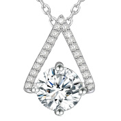 Dawanza-Christmas Gift Necklace for Women-Teardrop Modelling Pendant White Cubic Zirconia-Fashionable Jewellery