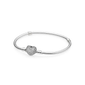 Pandora ladies' bracelet with Pavé heart 590727CZ.