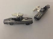 Triumph TR4 3D cufflinks classic car pewter effect cufflinks ref276