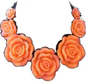 Vincenza Ladies Colourful Flower Rose Style Jewel Statement Crystal Bib Choker Collar Necklace