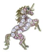 Sindary Unique Unicorn Horse Brooch Pin Animal Pendant Austrian Crystal UKB6172