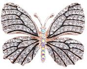 FENGJI Full Rhinestone Butterfly Retro Brooch Pin Lovely Wedding Pin for women