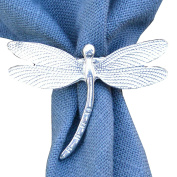 Fine Pewter Dimpled Dragonfly Scarf Ring, Handcast By William Sturt